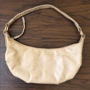 Sigrid Olsen Small Beige Leather Shoulder Bag